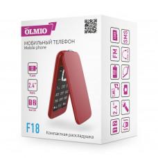 Телефон Olmio F18 красный