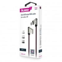 Кабель Partner/Olmio USB to Type-C 1m 2.1A L-образный ткань