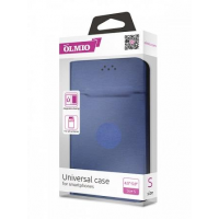 Чехол-книжка магнитный Partner/Olmio 5.0-5.5 (M) бархат внутри, темно-синий