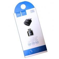 Адаптер Hoco UA5 Type-C to USB синий