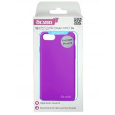 Накладка Partner/Olmio Velvet для iPhone 7/8, дизайн оригинала, фиолетовая