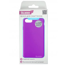 Накладка защитная Partner/Olmio Velvet для iPhone X фиолетовая