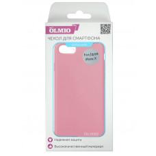 Накладка Partner/Olmio Velvet для iPhone X, дизайн оригинала, нежно-розовая