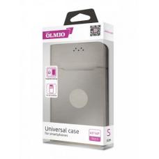 Чехол-книжка магнитный Partner/Olmio 5.5-6.5 (L) бархат внутри, серый