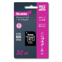 Карта памяти Partner/Olmio microSDHC 32Gb Class 10 UHS-I с адаптером