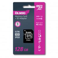Карта памяти Partner/Olmio microSDXC 128Gb Class 10 UHS-I с адаптером