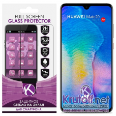 Стекло защитое Krutoff 3D Full Screen для Huawei Nova 3 черное