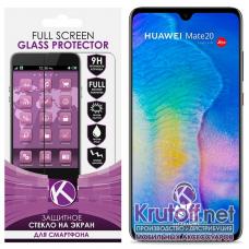Стекло защитое Krutoff 3D Full Screen для Huawei P20 черное
