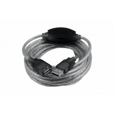 Кабель Oxion USB-A to USB-A удлинительный с усилителем сигнала 10m