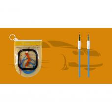 Аудиокабель Oxion AUX Jack-Jack 3.5mm 1m в коробке голубой