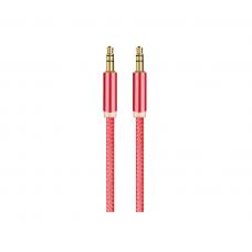 Аудиокабель Oxion AUX Jack-Jack 3.5mm 1m в блистере красный