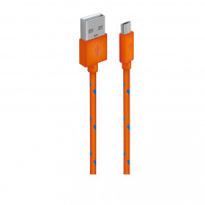 Кабель Oxion USB to microUSB 1m ткань оранжевый