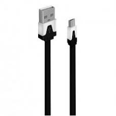 Кабель Oxion USB to microUSB 1m плоский черный