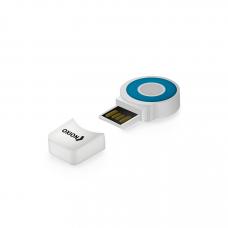 Картридер Oxion USB 2.0 microSD до 32GB синий
