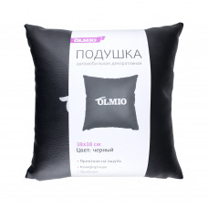 Подушка из экокожи, черная, OLMIO