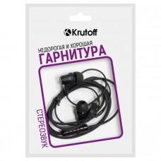 Наушники с микрофоном Krutoff HF-X61 черные (пакет)