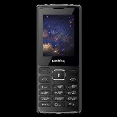 Телефон Nobby 210 черно-серый