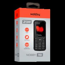 Телефон Nobby 110 бело-серый