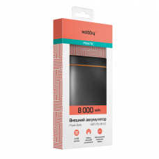 ЗУ Power Bank Nobby 8000 mAh Practic черный