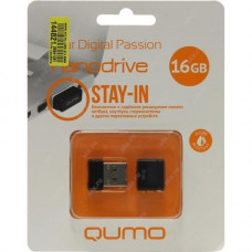 Флеш-накопитель USB 16GB Qumo Nano Black