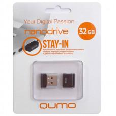 Флеш-накопитель USB 32GB Qumo Nano Black