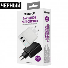 СЗУ Krutoff CH-07 2.4A для USB двухпортовое черное