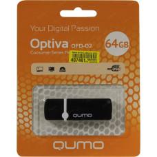 Флеш-накопитель USB 64GB Qumo Optiva 02 Black QM64GUD-OP2-black