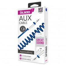 Аудиокабель Partner/Olmio AUX Jack-Jack 3.5mm витой синий