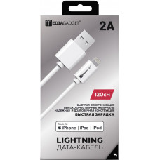 Кабель MediaGadget USB to Apple Lightning NL-001M 1m MFI белый
