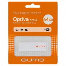 Флеш-накопитель USB 64GB Qumo Optiva 01 White QM64GUD-OP1-white