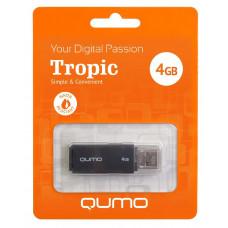 Флеш-накопитель USB 4GB Qumo Tropic Black QM4GUD-TRP-Black