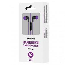 Наушники с микрофоном Krutoff Jay фиолетовые