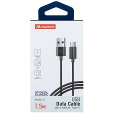 Кабель Maverick USB to Type-C 1.5m 2.1A черный