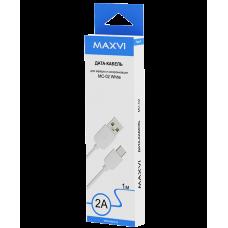 Кабель Maxvi USB to Type-C 1m 2А белый