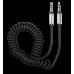 Аудиокабель Partner/Olmio AUX Jack-Jack 3.5mm витой черный