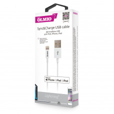 Кабель Partner/Olmio USB to Apple Lightning 1m 2.4A MFI белый