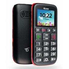 """Телефон Olmio C17 (1,77"""", 800mAh, 2 SIM, крупные клавиши, громкий динамик, кнопка SOS) черно-красный"""