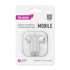 Наушники Partner/Olmio (аналог EarPods) Mobile белые