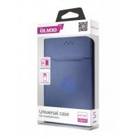 Чехол-книжка магнитный Partner/Olmio 5.5-6.5 (L) бархат внутри, темно-синий