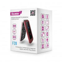 """Телефон Olmio F28 (2,8"""", 800mAh, 2 SIM, раскладушка, камера, крупные клавиши) черный"""