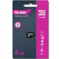 Карта памяти Partner/Olmio microSDHC 8Gb Class 10 без адаптера