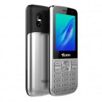 "Телефон Olmio M22 (2,4"", 1000mAh, 2 SIM, камера, металлический корпус) серебро"