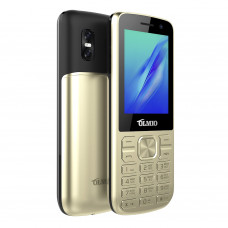 "Телефон Olmio M22 (2,4"", 1000mAh, 2 SIM, камера, металлический корпус) золото"