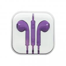 Наушники Oxion (аналог EarPods) фиолетовые