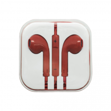 Наушники Oxion (аналог EarPods) красные