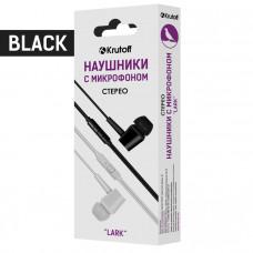 Наушники с микрофоном Krutoff Lark черные