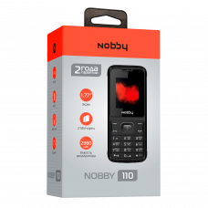 """Телефон Nobby 110 (1,77"""", 2360mAh, 2 SIM, камера) бело-серый"""