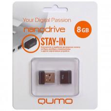 Флeш-накопитель USB 2.0 8GB Qumo Nano Black QM8GUD-NANO-B