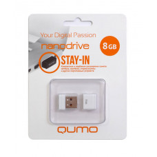 Флeш-накопитель USB 2.0 8GB Qumo Nano White QM8GUD-NANO-W