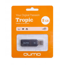 Флeш-накопитель USB 2.0 8GB Qumo Tropic Black QM8GUD-TRP-Black